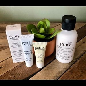 NEW PHILOSOPHY PURITY SKINCARE BUNDLE EYE GEL